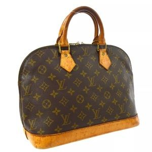 Auth LOUIS VUITTON Monogram Alma Hand Bag LV
